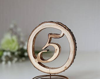 12 Wedding table numbers, Wooden table numbers, Table numbers with stand, Rustic table numbers, Woodland table numbers, Wedding table decor