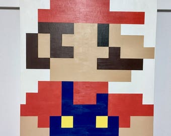 Original acrylic painting - Pop Art - Mario Bros 8bit