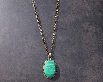 Handmade Moroccan Pendant Necklace; Vintage Pendant Necklace; Long Boho Necklace