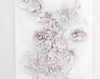 White Dusted Flower Canvas