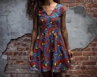 Deutch Wax fabric  print fabric floral printed dress, Gorgeous!