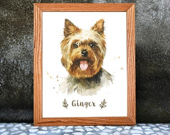 Watercolor Dog Portrait. Custom Watercolor Pet Portraits. Watercolor Painting.