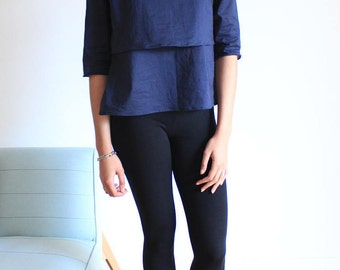 High minimalist, blue, modern, France, spring, been, 2017, female, gift, cotton, handmade, neck, flying