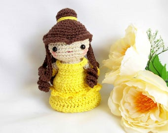 Princess Belle Beauty and the Beast amigurumi PATTERN -princess girl disney crochet doll amigurumi PATTERN - princess plush