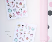 fashion, make up, sampler, planner stickers, sale, shopping, makeup, birthday, me time, spa, beauty, hair appointment, mani, pedi BEA1