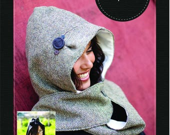 Hooded Scarf e-pattern (pdf sewing pattern)
