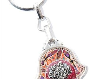 Hamsa KeyChain, bag decor, judaica, Tree of life, hamsa decoration, jewish gift