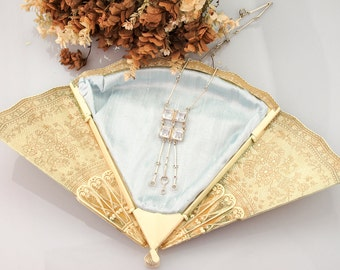 Antique Rock Crystal Necklace | Antique Art Deco Necklace | 1920s Jewelry | Antique Sterling Necklace