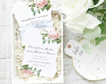 INSTANT DOWNLOAD Wedding Program Template    Vintage Botanical   Printable   Flat 5x7 Double Sided   Editable Colors   Word & Pages