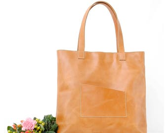 Women Leather Tote Bag women Leather bag  women laptop bag Leather bag Brown Hobo bag Shoulder bag Every day bag