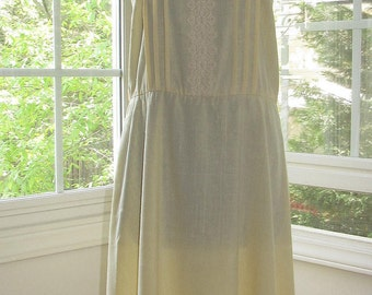 Vintage Yellow Dress, Medium
