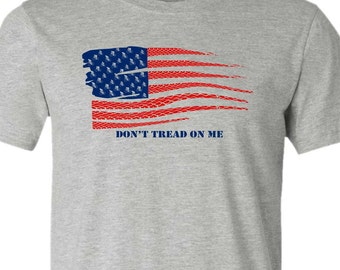 Bicycle T-shirt-United States Flag-Don't Tread on Me-USA,Road Bike T-Shirt- Road Bicycle t-Shirt, Cycling t shirt,bike gift,bicycle gift