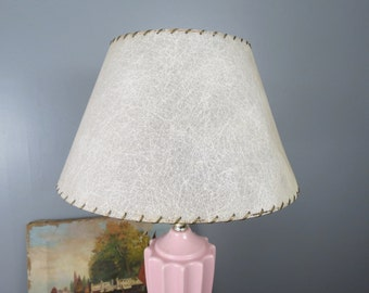 Fiberglass shade etsy vintage fiberglass lampshade small table lamp size white textured lamp shade mid century modern mozeypictures Gallery
