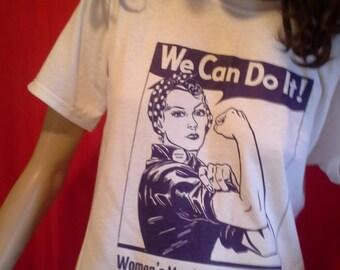 WOMEN'S MARCH on WASHINGTON, January 21, 2017 T-Shirt Hand-Screen Printed, All-Cotton