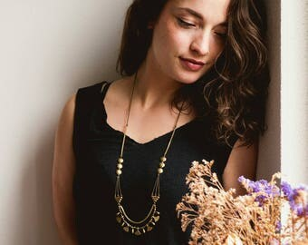 PYR Brass Necklace