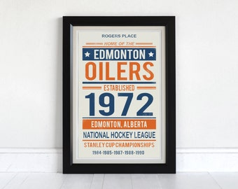 Edmonton Oilers - Screen Printed Poster