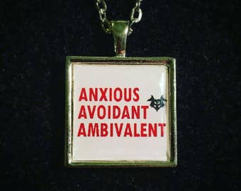Bookish necklace: What to wear on the first date! Anxious. Avoidant. Ambivalent...