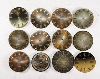 Vinatge Watch Faces - set of 12 - c59