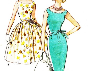 McCall's 5813 Misses' Vintage 1950s Camisole Dress with Slim or Full Skirt Sewing Pattern
