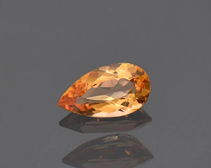 Excellent Bright Orange Imperial Topaz Gemstone from Brazil 1.76 cts.