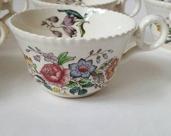Spode Copeland Romney 6 tea cups