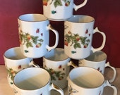 Set of 8 Lenwile Ardalt Porcelain Coffee Mugs