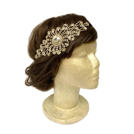 Gatsby Headpiece Gold Flapper Costume Bridal Fascinator Art