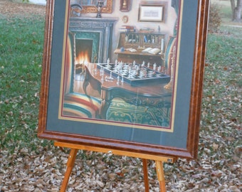 Artist Judy Gibson Framed, Signed & Numbered Print. Chess.