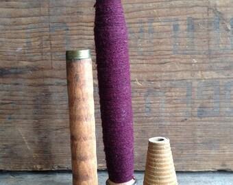 Vintage Wooden Textile Bobbins. Set of 3 bobbins in different sizes and shapes.  Vintage Bobbins.  Old Bobbins. Vintage Decor. Wood Bobbins.