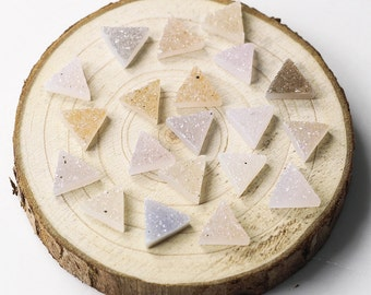 WHOLESALE Triangle Druzy Cabochon -- Drusy Cab Geode Druzzy for gemstone handmade dainty craft jewelry lot Wholesale CQA-003