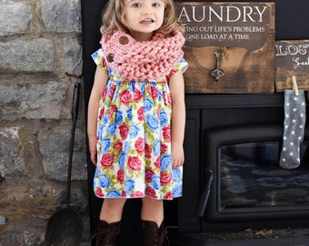 Handmade Apricot Colored Children's Scarf