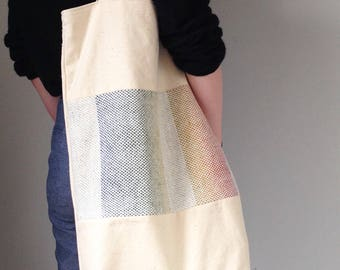 Extra deep woven detail tote bag