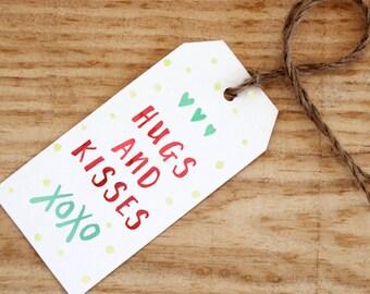 Christmas Gift Tags Printable, Christmas Tags, Handwritten XOXO Tags, Printable Gift Tags, Digital Download, Christmas Printable, New Years