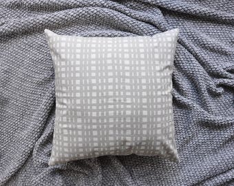 Grey Cushion Cover, Throw Pillow Cover, Throw Cushion Cover, Decorative Cushion Cover, Decorative Pillow Cover - Grid Lines