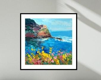 Manarola Wall Art Prints Cinque Terre Art Prints Seascape Decor Art Canvas Art Prints Italy Prints Landscape Prints Fine Art Prints