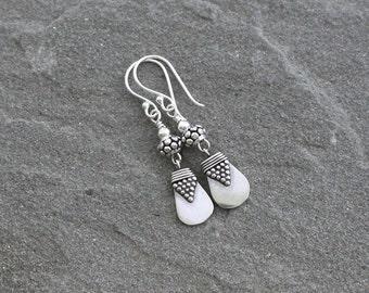 Balinese Sterling Silver Earrings, Silver Dangle Earrings, Turkish Silver Jewelry, Bali Jewelry, Bali Silver Earrings, Sterling Drops
