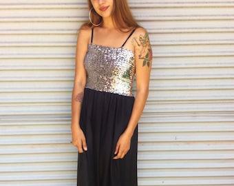 Vintage seventies disco sequin dress