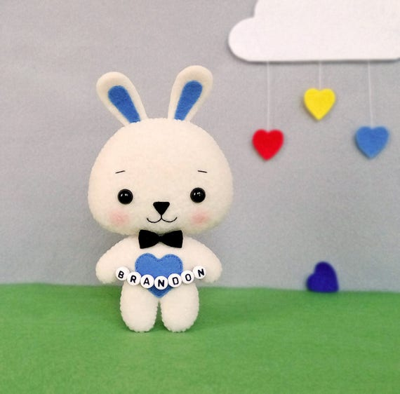Easter gifts for boys easter bunny personalized gift rabbit like this item negle Image collections