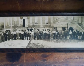 "1914 Yard Long Photo ""Editor's Convention"" New Ulm, Minnesota, Framed"