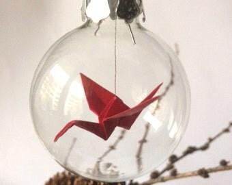 "Origami christmas tree ball ""Crane"""
