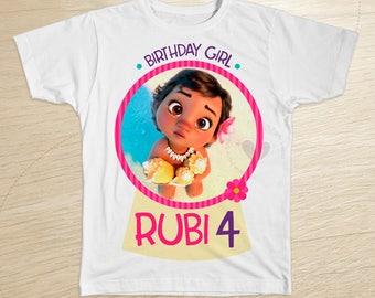 Moana Baby Birthday shirt, Moana baby Shirt, Moana Disney Shirt, Moana Birthday Girl Shirt, Moana transfer, disney moana, moana Party