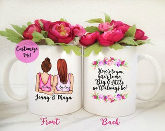 Big Little Sorority Gift | Big Lil Sorority Mug | Custom Mug | Little Sis gift | Gift for Big | Sorority Sister Gift