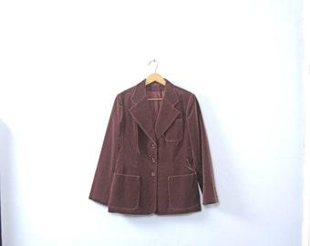 Vintage 90's dusty rose / mauve velvet blazer, velvet jacket, women's size small