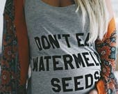 Don't Eat Watermelon Seeds, Funny Maternity Shirt, Pregnancy Announcement Shirt, Off Shoulder Top, Customizable Tee, Mommy To Be Shirt