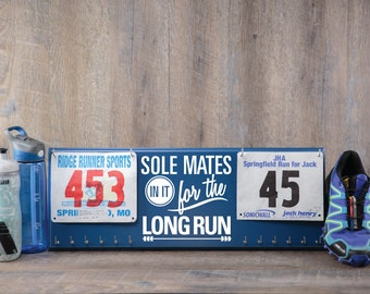 race bibs and race bibs and medals holder - race bibs and race bibs and medal hanger - running running and running: inspirational quote