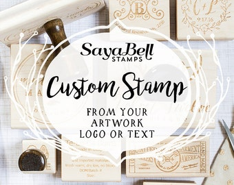 Custom Stamp from your Design or Logo, Personalized Stamp, Logo Stamp, Business Stamp, Custom Rubber Stamp, Wedding Stamp. Perfect Gift