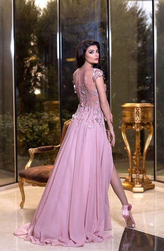Robe de soiree mariee cocktail bal honduras rose