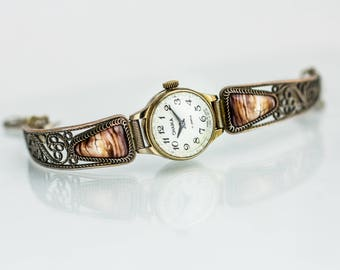 Stylish ladies watch Chaika – brass bracelet watch woman – soviet watch womens – vintage watch ussr 70s