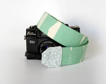 Camera strap, SLR camera strap, summer neck strap organic cotton mint