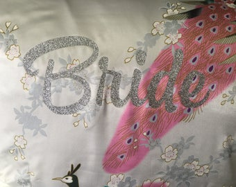 """Silver Glittered Print*Bride*Bridesmaid*Flower Girl*Maid of Honor"""""""